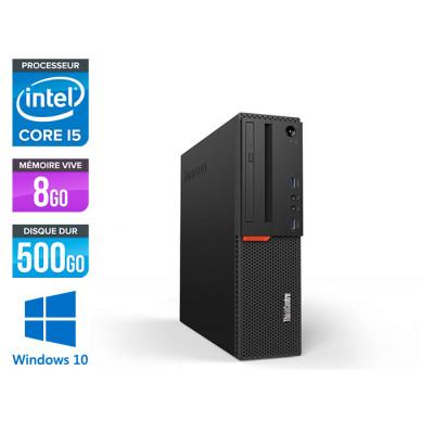 Pc de bureau reconditionne Lenovo ThinkCentre M700 SFF - Intel core i5-6400 - 8Go RAM DDR4 - HDD 500Go - Windows 10 Famille