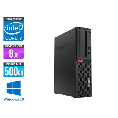 Pc de bureau reconditionne Lenovo ThinkCentre M710s SFF - Intel core i7-6700 - 8 Go RAM DDR4 - 500 Go HDD - Windows 10 Famille