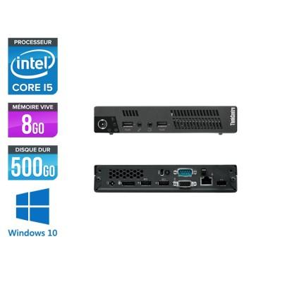 Lenovo ThinkCentre M72E Tiny - Core i5 - 8Go - 500Go HDD - Windows 10