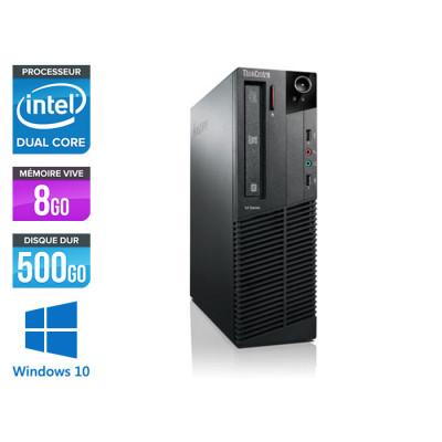 Pc bureau reconditionné - Lenovo ThinkCentre M73 SFF - pent - 8 Go - 500 Go HDD - Windows 10