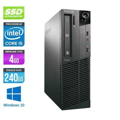 Lenovo ThinkCentre M81 SFF - Intel Core i5 - 4Go - 240Go SSD - Windows 10
