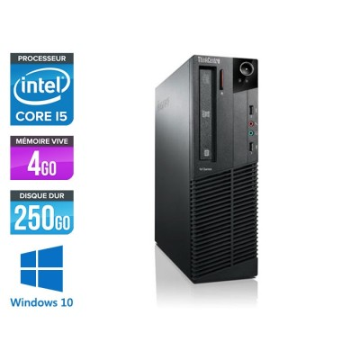 Lenovo ThinkCentre M81 SFF - Intel Core i5 - 4Go - 250Go HDD - Windows 10