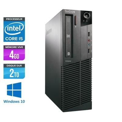 Lenovo ThinkCentre M81 SFF - Intel Core i5 - 4Go - 2To HDD - Windows 10