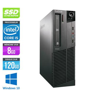 Lenovo ThinkCentre M81 SFF - Intel Core i5 - 8Go - 120Go SSD - Windows 10