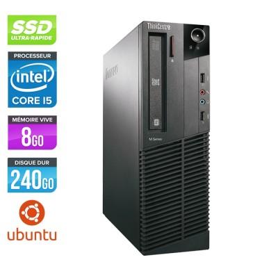 Lenovo ThinkCentre M81 SFF - Intel Core i5 - 8Go - 240Go SSD - Linux