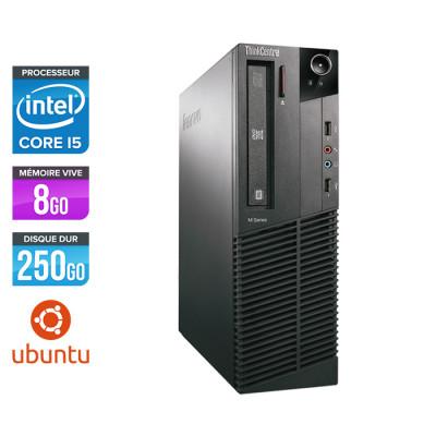 Lenovo ThinkCentre M81 SFF - Intel Core i5 - 8Go - 250Go HDD - Linux