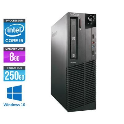 Lenovo ThinkCentre M81 SFF - Intel Core i5 - 8Go - 250Go HDD - Windows 10