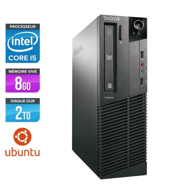 Lenovo ThinkCentre M81 SFF - Intel Core i5 - 8Go - 2To HDD - ubuntu / Linux