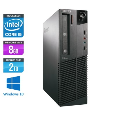 Lenovo ThinkCentre M81 SFF - Intel Core i5 - 8Go - 2To HDD - Windows 10