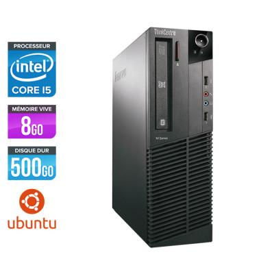 Lenovo ThinkCentre M81 SFF - Intel Core i5 - 8Go - 500Go HDD - Linux