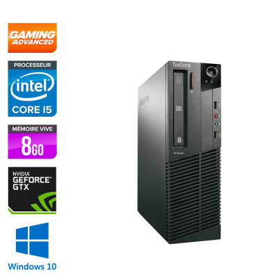 Lenovo ThinkCentre M81 SFF Gamer - Intel Core i5 - 8Go - 500Go HDD - GTX 1050 - Windows 10