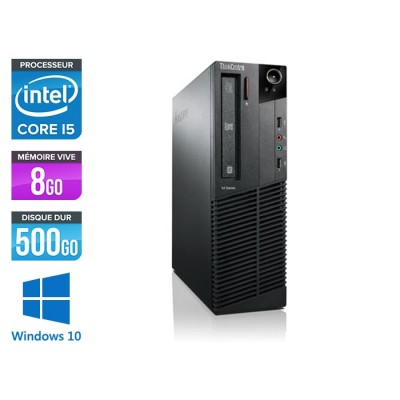 Lenovo ThinkCentre M81 SFF - Intel Core i5 - 8Go - 500Go HDD - Windows 10