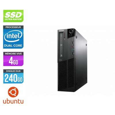 Lenovo ThinkCentre M82 SFF - G645 - 4Go - 240go SSD - Linux