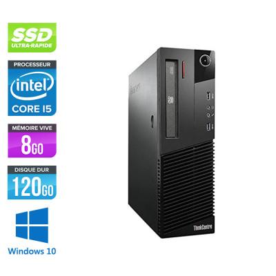 Lenovo M83 SFF - i5 - 8 Go - 120Go SSD - Windows 10