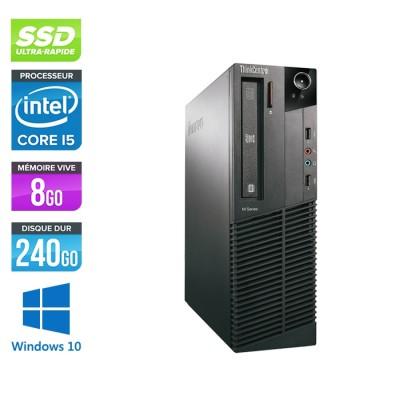 Lenovo ThinkCentre M82 SFF - i5 - 8Go - 240Go SSD- W10