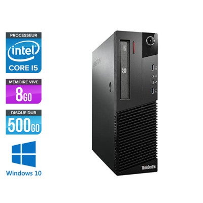 Lenovo M83 SFF - i5 - 8 Go - 500Go HDD - Windows 10