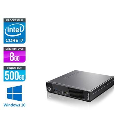 Lenovo M83 USFF - i7 - 8 Go - 500Go HDD - Windows 10