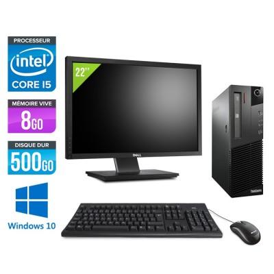 pc de bureau - Lenovo ThinkCentre M93P SFF - i5 - 8Go - 500 Go HDD - Windows 10