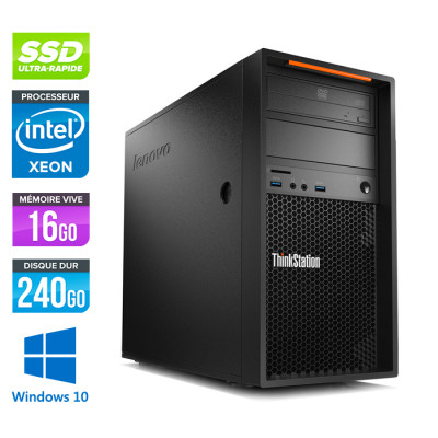 Lenovo P300 reconditionné - Core i5-4570 V3 - 16Go - 240 Go SSD - K2200 - Windows 10