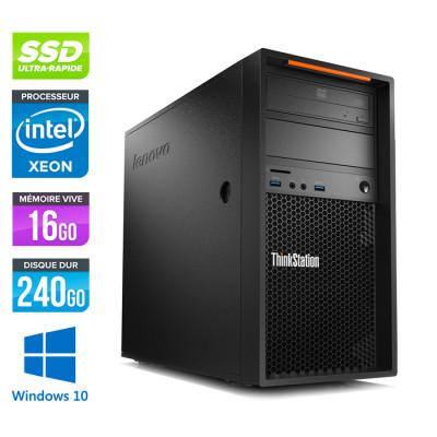 Workstation reconditionnée - Lenovo ThinkStation P300 - Xeon E3-1231 - 16Go - 240 Go SSD - NVIDIA GeForce GTX 1050 - Windows 10