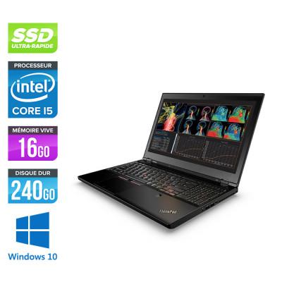 Worstation portable reconditionnée - Lenovo ThinkPad P50S - Pc portable reconditionné -  i5 - 16Go - 240Go HDD - Nvidia M500M - Windows 10