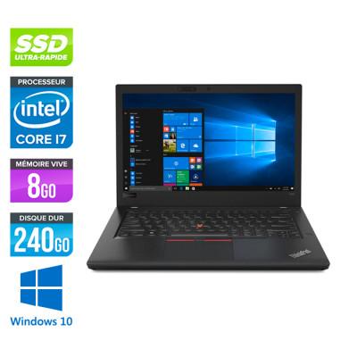 Pc portable reconditionné - Lenovo ThinkPad T480 - i7 - 8Go - 240Go SSD - Windows 10