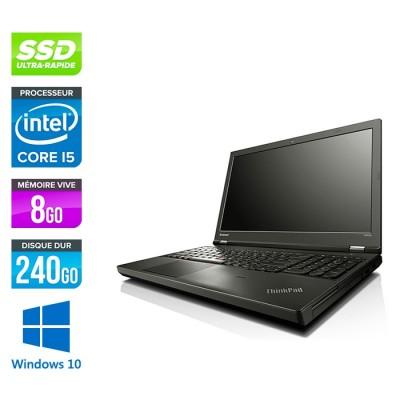 Lenovo ThinkPad T540P - i5 - 8Go - 240Go SSD - Windows 10