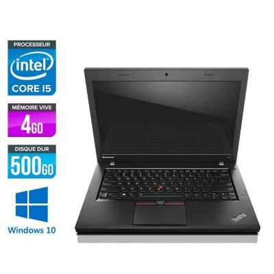 Lenovo ThinkPad L450 - i5 - 4Go - 500Go HDD - webcam - Windows 10