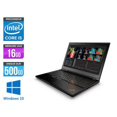 Lenovo ThinkPad P50 -  i7 - 16Go - 500Go HDD - Nvidia M1000M - Windows 10
