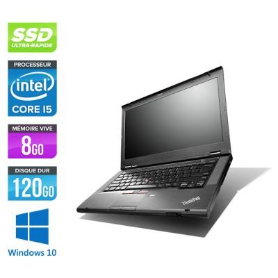 Pc portable - Lenovo ThinkPad T430 reconditionné - i5 - 8Go - 120Go SSD - Windows 10
