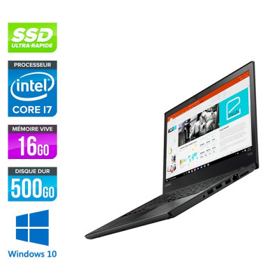 Lenovo ThinkPad T470 - i7 6600U - 16Go - SSD 500Go nvme - Windows 10 professionnel