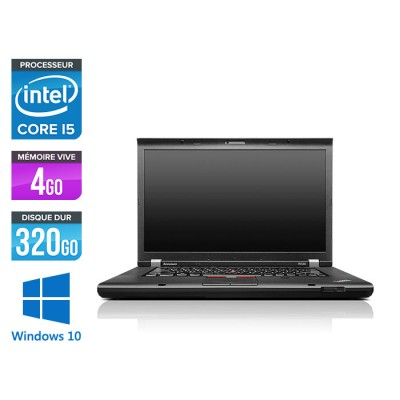 Lenovo ThinkPad W530 - Core i5 - 4 Go - 320 Go HDD - Nvidia K1000M - Windows 10