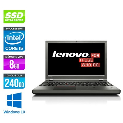 Lenovo ThinkPad W540 -  i5 - 8Go - 240Go SSD - Nvidia K1100M - Windows 10