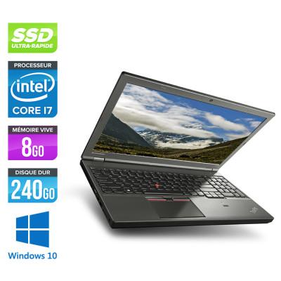 Lenovo ThinkPad W541 -  i7 - 8Go - 240Go SSD - Nvidia K1100M - Windows 10
