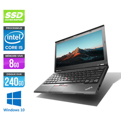 Ordinateur portable reconditionné - Lenovo ThinkPad X230 - Core i5-3210M - 8 Go - 240 Go SSD - Windows 10