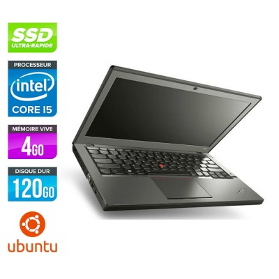 Lenovo ThinkPad X240 - i5 4300U - 4Go - 120 Go SSD - Linux