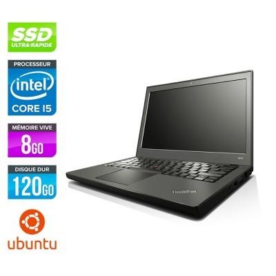 Lenovo ThinkPad X240 - i5 4300U - 8Go - 120 Go SSD - Linux