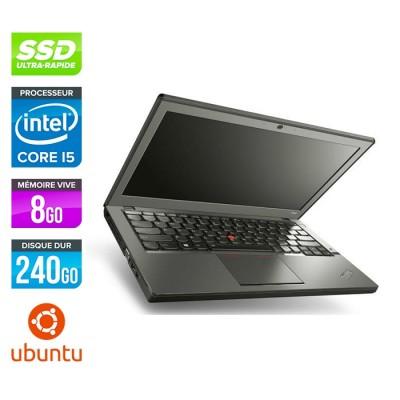Lenovo ThinkPad X240 - i5 4300U - 8Go - 240 Go SSD - Linux