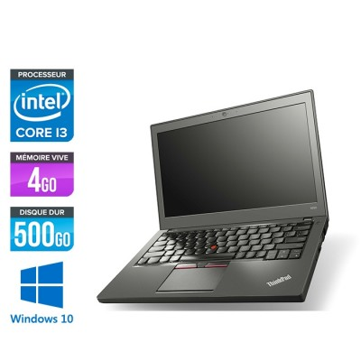 Lenovo ThinkPad X250 - i3 4030U - 4 Go - 500 Go HDD - Windows 10