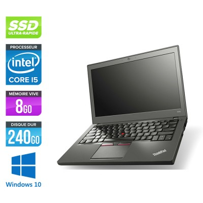 Lenovo ThinkPad X250 - i5 5300U - 8 Go - 240 Go SSD - Windows 10