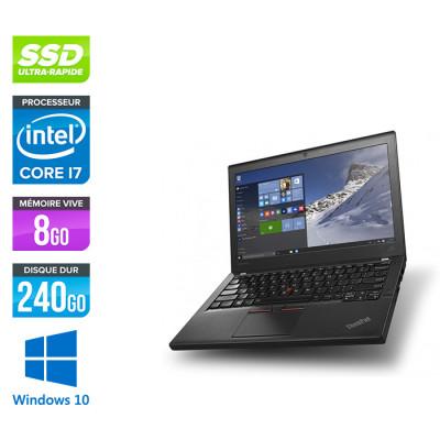 Pc portable pro reconditionné - Lenovo ThinkPad X260 - i7 6500U - 8Go - 240 Go SSD - Windows 10