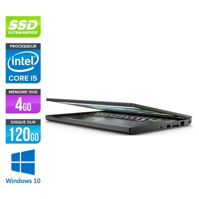 Lenovo ThinkPad X270 - i5 6300U - 4Go - 120 Go SSD - Windows 10
