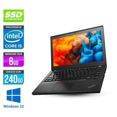 Lenovo ThinkPad X270 - i5 6300U - 8Go - 240 Go SSD - Windows 10 Famille