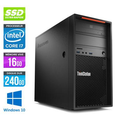 Lenovo P310 Tour reconditionné - Core i7- 16Go - 240 Go SSD - GTX 1050 - Windows 10