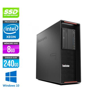 Lenovo P500 reconditionné - Xeon E5-1620 V3 - 8Go - 240 Go SSD - 1 To HDD - K4200 - Windows 10