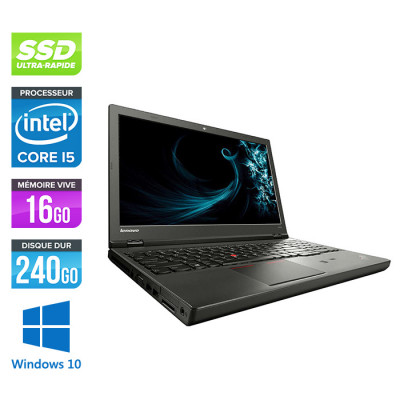 Lenovo ThinkPad W541 -  i5 - 16Go - 240Go SSD - Nvidia K1100M - Windows 10