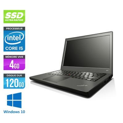 Lenovo ThinkPad X240 - i5 4300U - 8 Go - 120 Go SSD - Windows 10 - Home