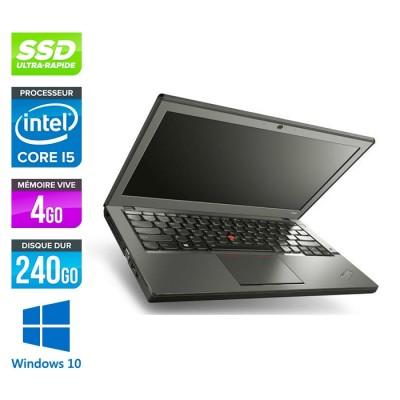 Ordinateur portable Lenovo ThinkPad X240 reconditionné - i5 4300U - 4Go - 240Go SSD - Windows 10