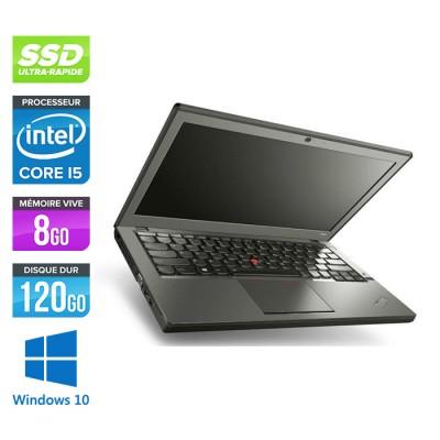 Lenovo ThinkPad X240 - i5 4300U - 8 Go - 120 Go SSD - Windows 10