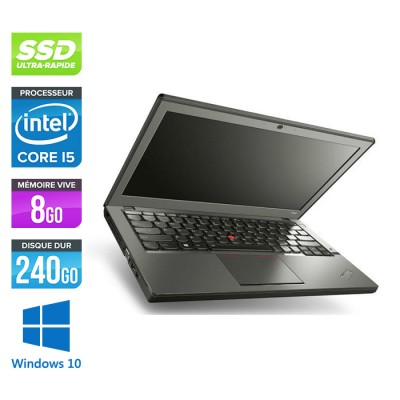 Lenovo ThinkPad X240 - i5 4300U - 8 Go - 240 Go SSD - Windows 10